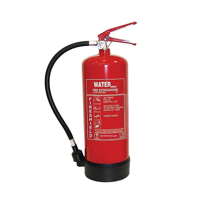 Water Fire Extinguisher - 6Ltr Water Extinguisher Fireshield PRO