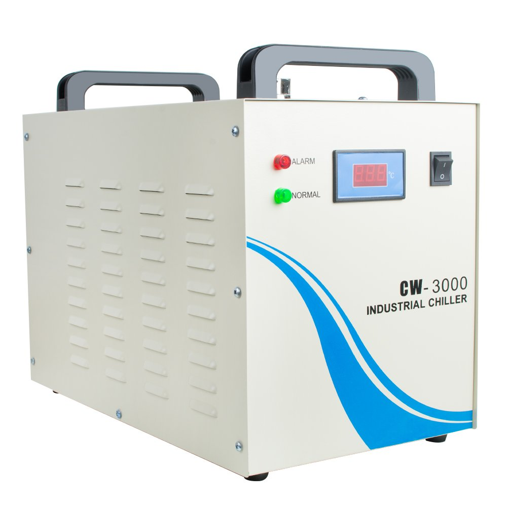 zorvo Industrial Water Chiller 9L Capacity CW-3000DG Thermolysis Type Industrial Water Cooling Chiller for 60W 80W Engraving Machine(CW-3000DG)