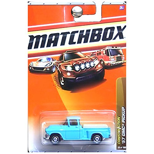 Matchbox 2010 Construction 1957 GMC Stepside Pickup Truck Teal Blue Aqua