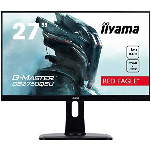 chollos oferta descuentos barato iiyama G MASTER Red Eagle GB2760QSU B1 Monitor Gaming LED 68 58 cm 27 WQHD 144Hz VGA HDMI 1ms FreeSync Regulable en altura Pivotante Negro Mate
