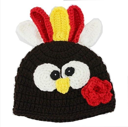 Amazon Colorfog Baby Knit Crochet Thanksgiving Turkey Hat