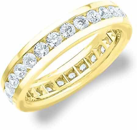 2.0 CTTW Men's Eternity Ring in 18K Yellow Gold, Stunning Mens Diamond Ring