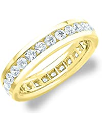 2.0 CTTW Men's Eternity Ring in 18K Yellow Gold, Stunning Mens Diamond Ring
