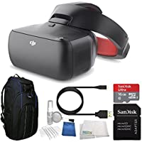 DJI Goggles FPV Headset (Racing Edition) Bundle with Professional Video Equipment Backpack