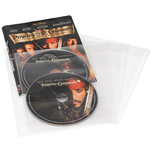 (Atlantic 74604729 Movie/Game Sleeves, 25-Ct 8.25in. x 6.00in. x 1.10in.)