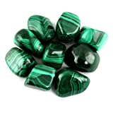 Crystal Allies Materials: 1/2lb Bulk Tumbled Malachite Stones from South Africa – Large 1″ Natural Polished Gemstone Supplies for Wicca, Reiki, and Energy Crystal HealingWholesale Lot Review