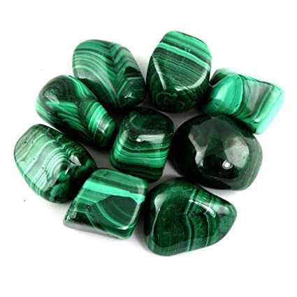 amazon com crystal allies materials 1 2lb bulk tumbled malachite