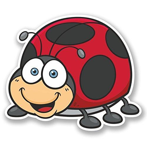 hiusan 2 x Ladybird Ladybug Vinyl Stickers Decals Travel Luggage Tag Lables Car Window Laptop Ipad Envenlop Stickers(10cm W x 8.5cm H) ()