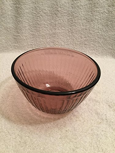 Pyrex Cranberry Cranberry Ribbed Mixing Bowl #7401-S 3 cups