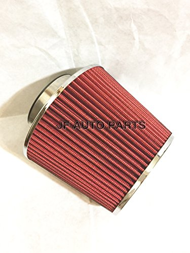 "Price comparison product image 3"" 6.25""H COLD / SHORT RAM INTAKE HIGH FLOW CONE RED AIR FILTER"