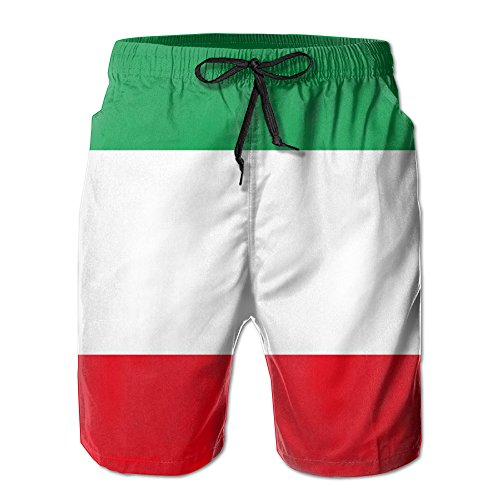 MAMAC New Men's Italia Italy Italian Flag Leisure Ultra-Light Sandy Beach Pants Board Shorts With Telescopic - Swimwear Men's Italian