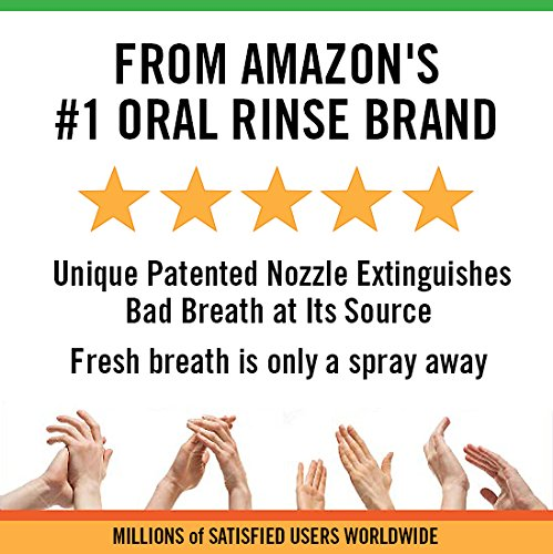 TheraBreath Fresh Breath Spray – Dentist Formulated – Maximum-Strength - Extinguisher Spray – Stops Halitosis – Certified Gluten-Free – Approved for Diabetics – 1 Ounce – Three-Pack by TheraBreath (Image #4)