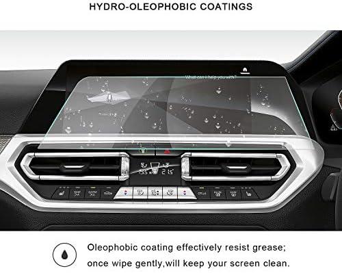 XHULIWQ スクリーンプロテクター右ラダーカーナビゲーションタッチディスプレイ9H強化ガラス保護フィルム、BMW 3シリーズG20 10.25インチ用