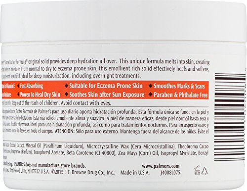 Palmer's Cocoa Butter Formula Daily Skin Therapy Jar, Solid Formula, 7.25 oz. (Pack of 12) by Palmer's (Image #1)