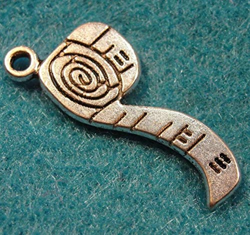 10Pcs. Tibetan Silver Measuring Tape Charms Pendants Drops Jewelry Finding PR48 Jewelry Making Supply Pendant Bracelet DIY Crafting by Wholesale Charms