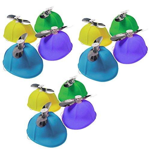 [A Dozen Propeller Beanies - Set Of 12 Color Assorted Propeller Hats] (Halloween Costumes Tweedledum And Tweedledee)