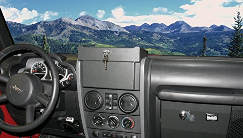 Tray Tuffy (Tuffy Flip-N-Lock Stereo Cover & Tray Dark Slate 2007-2010 Jeep Wrangler JK & Wrangler Unlimited JK # 160-08)