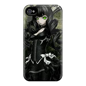 Fashionable Style Cases Covers Skin Ipod Touch 4 - Green Eyed Gothic Anime