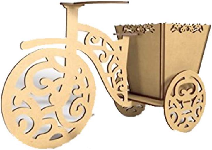 Kit para hacer triciclo con canasta de madera DM para candy bar mesa dulce. Medidas: 40X25cm; con Canasta Calada de 15X15cm