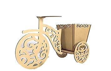 Kit para hacer triciclo con canasta de madera DM para candy bar mesa dulce. Medidas: 40X25cm; con Canasta Calada de 15X15cm: Amazon.es: Hogar