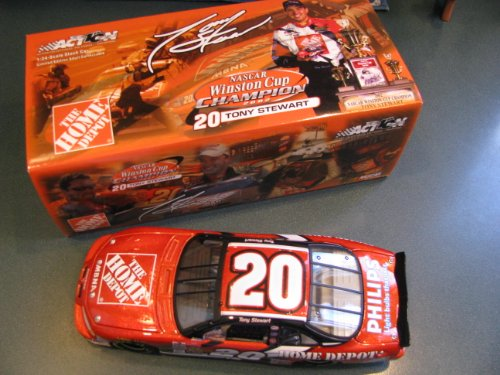 (2002 Metalflake Winston Cup Champion Championship Edition Tony Stewart #20 Home Depot 1/24 Hood Opens Trunk Opens HOTO 2002 Action Racing Collectables ARC Limited Edition)