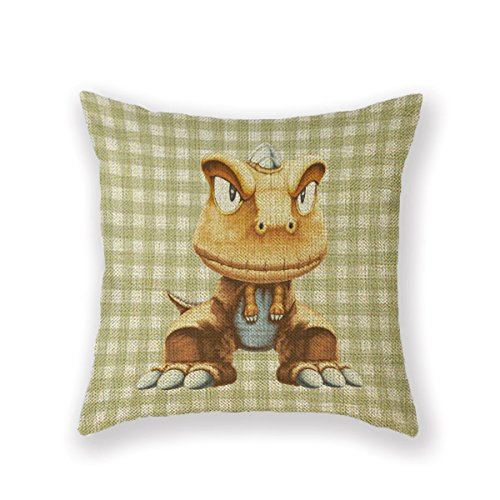 Customized Standard New Arrival Pillowcase Throw Pre Historic Animal Dinosaur Throw Pillow 18 X 18 Square Cotton Linen Pillowcase Cover Cushion -