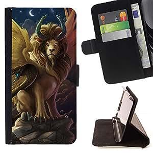 Momo Phone Case / Flip Funda de Cuero Case Cover - Símbolos León serpiente antigua Ahora Luna - Apple Iphone 5C