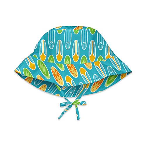 i play. Toddler Bucket Sun Protection Hat, Aqua Surfboard, 2T-4T Aqua Bucket Hat