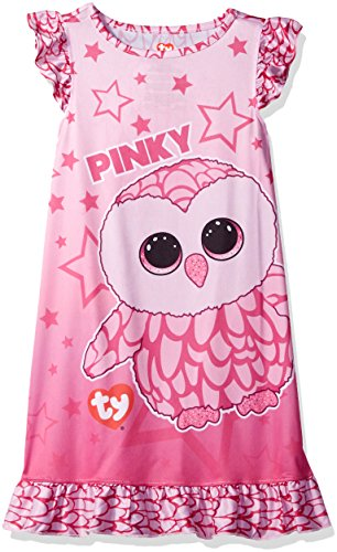 2551990ef3e TY Beanie Boo Girls  Big Pinky The Owl Ruffle Nightgown