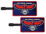 Atlantic Hawks - NBA Soft Luggage Bag Tag - Set of 2