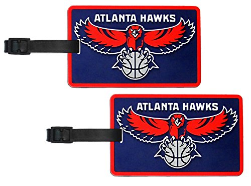 Atlantic Hawks - NBA Soft Luggage Bag Tag - Set of 2 by NCAA