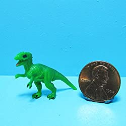 Dollhouse Miniature Toy T-Rex Dinosaur SL - My Mini Fairy Garden Dollhouse Accessories for Outdoor or House Decor