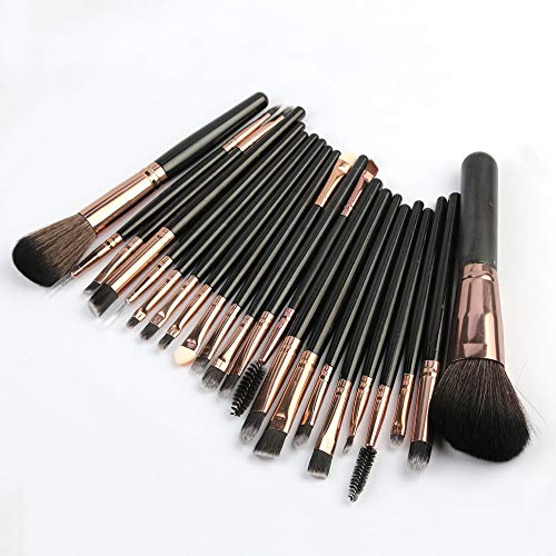 Ms. essential cosmetic 22 Pcs Makeup Brush Powder Foundation Eyeshadow Eyeliner Lip Cosmetic Brush ()