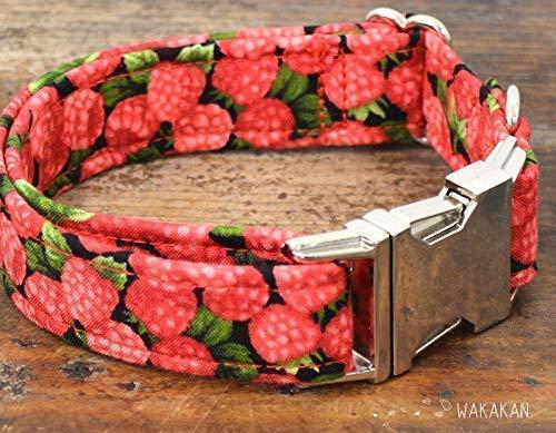 Hecho a Mano en Espa/ña por Wakak/án Raspberries Collar Para Perro