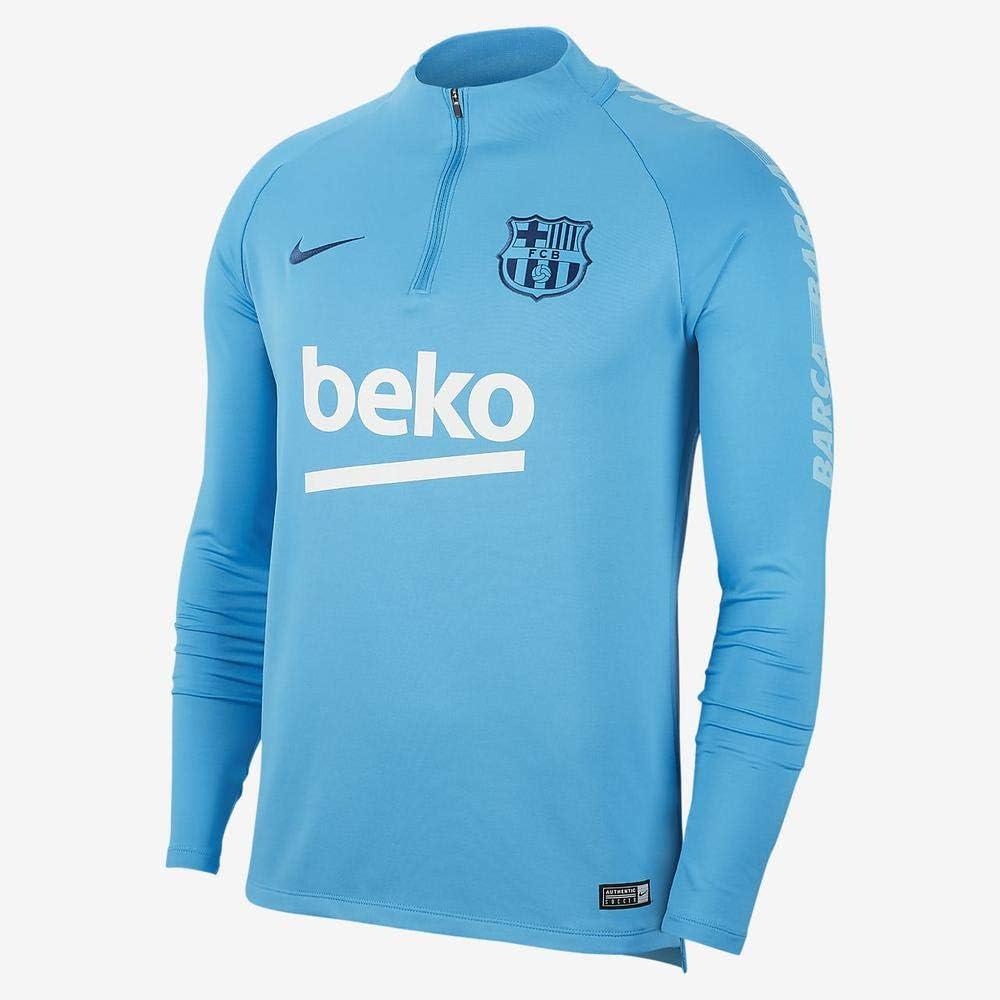 Nike FCB M NK Dry Sqd Dril Top T Shirt à Manches Longues