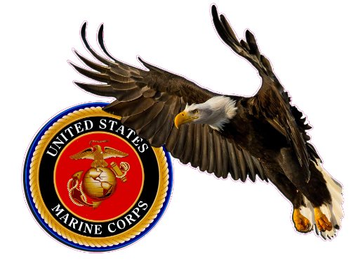 United-States-Marine-Corp-Soaring-Eagle-Decal-6-Free-Shipping-in-the-United-States
