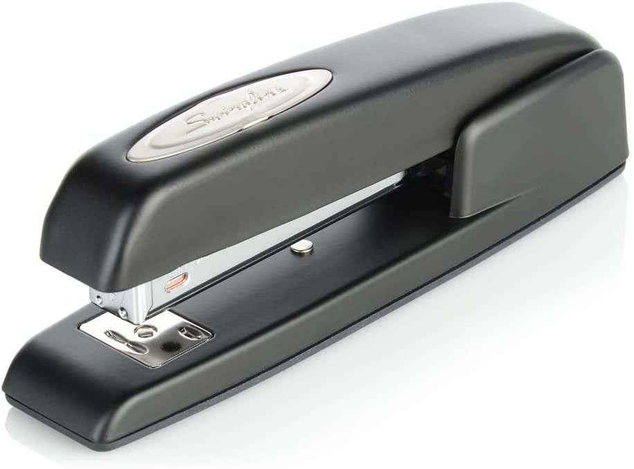 Swingline Stapler, 747 Iconic Desktop Stapler, 25 Sheet Capacity, Desk, Office, Black (74732) : Desk Staplers : Office Products