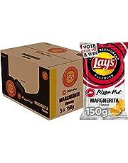 Lay's Iconic Restaurant Flavours Chips Pizza Hut Margherita, Doos 9 stuks x 150 g