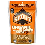 Cheap SKOUT BACKCOUNTRY Organic Roasted Pumpkin Seeds – Cane Sugar & Cinnamon – Pepitas With No Shell – Vegan, Low Carb Snacks – Paleo Foods – Gluten Free – Non-GMO- Kosher – Grown in USA – 2.2 oz (6 Count)
