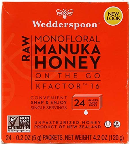 【持ち運びに便利な個包装タイプ】マヌカハニー Wedderspoon Honey on the Go 100% 生のマヌカハチミツ 24個入り X 2 セット