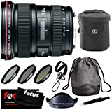 Canon EF 17-40mm f/4L USM Ultra Wide Angle Zoom Lens with Deluxe Accessory Bundle