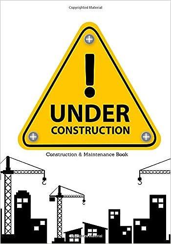 construction maintenance book daily activity log book jobsite