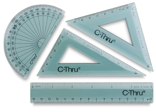 Acme KT-1 6'' Ruler Combo Set, 4 Pieces by Acme (Image #1)
