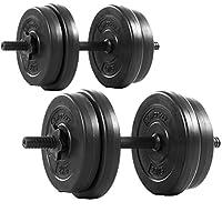 MOVIT® Kurzhantel 2er Set, Varianten 20kg, 30kg, 40kg, Stangen gerändelt mit...
