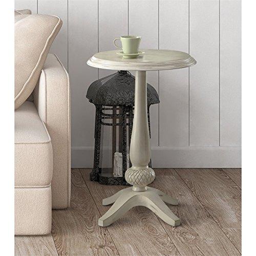 Furniture of America Vito Pedestal Table in White