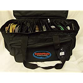 Cable File Bag CFB-LTE – Smaller Lighter Model Cable & Accessories Organizer Gig Bag / Soft Case – CablePhyle