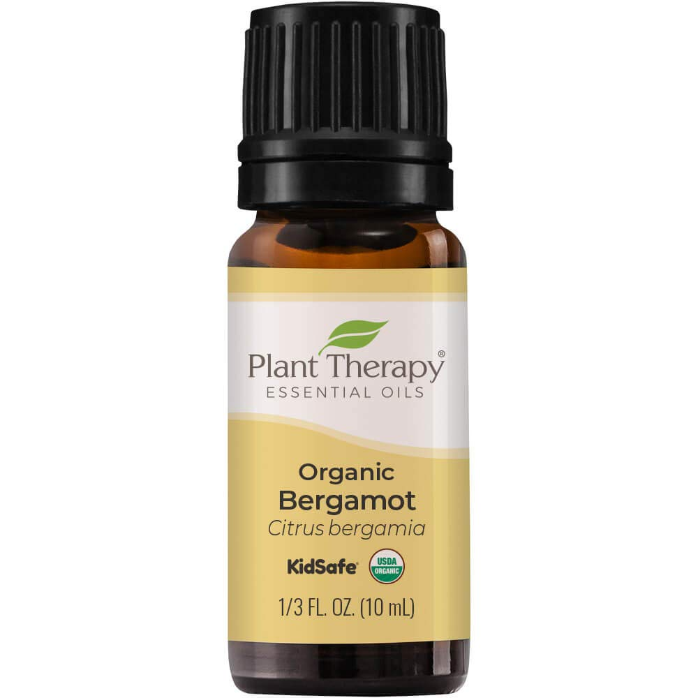 Plant Therapy Organic Bergamot Essential Oil 10 mL (1/3 oz) 100% Pure, Undiluted, Therapeutic Grade