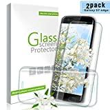 Youer Galaxy S7 Edge Screen Protector, [2Pack] Premium Tempered Shatterproof Glass Screen Protector Flim, 9H Hardness, Anti-Scratch, Bubble-Free, Easy Installation, for Samsung Galaxy S7 Edge