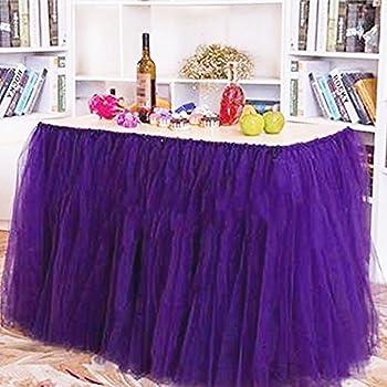 Amazon irish tutu table skirts tulle queen wonderland tutu irish tutu table skirts tulle queen wonderland tutu table cloth for girl princess party birthday wedding junglespirit Image collections