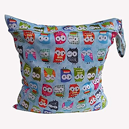 Xuxuou Wet Dry Bag Cloth Diapers Nappy Bag Reusable Daycare Organiser Bag Waterproof Wet Bag Travel Diaper Organiser with zip